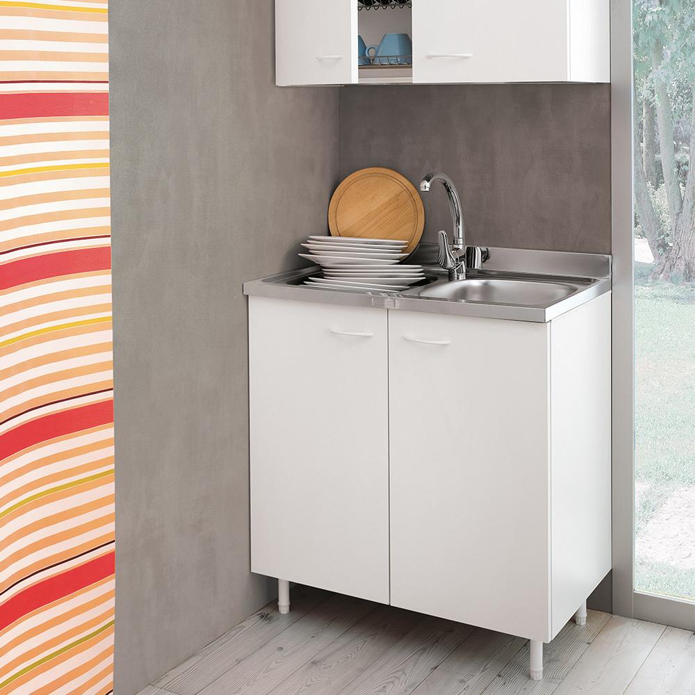 Lavello In Acciaio Con Mobiletto.Cucina