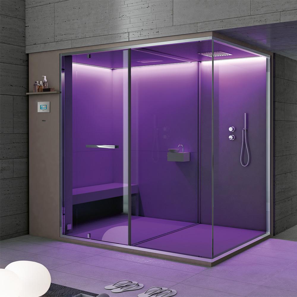 ... Sauna 252x150x215h Hammam + Shower 242x150x215h ...