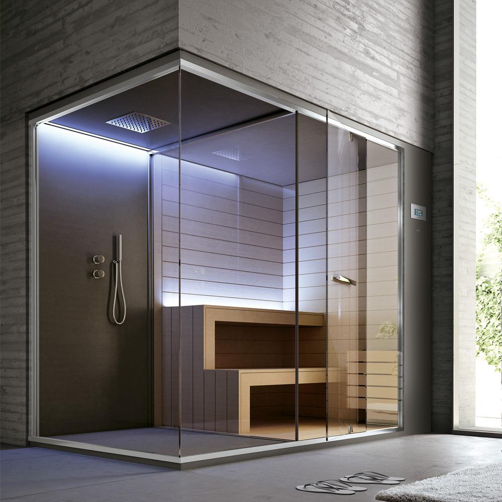 Spazio doccia + Sauna 252x150x215h