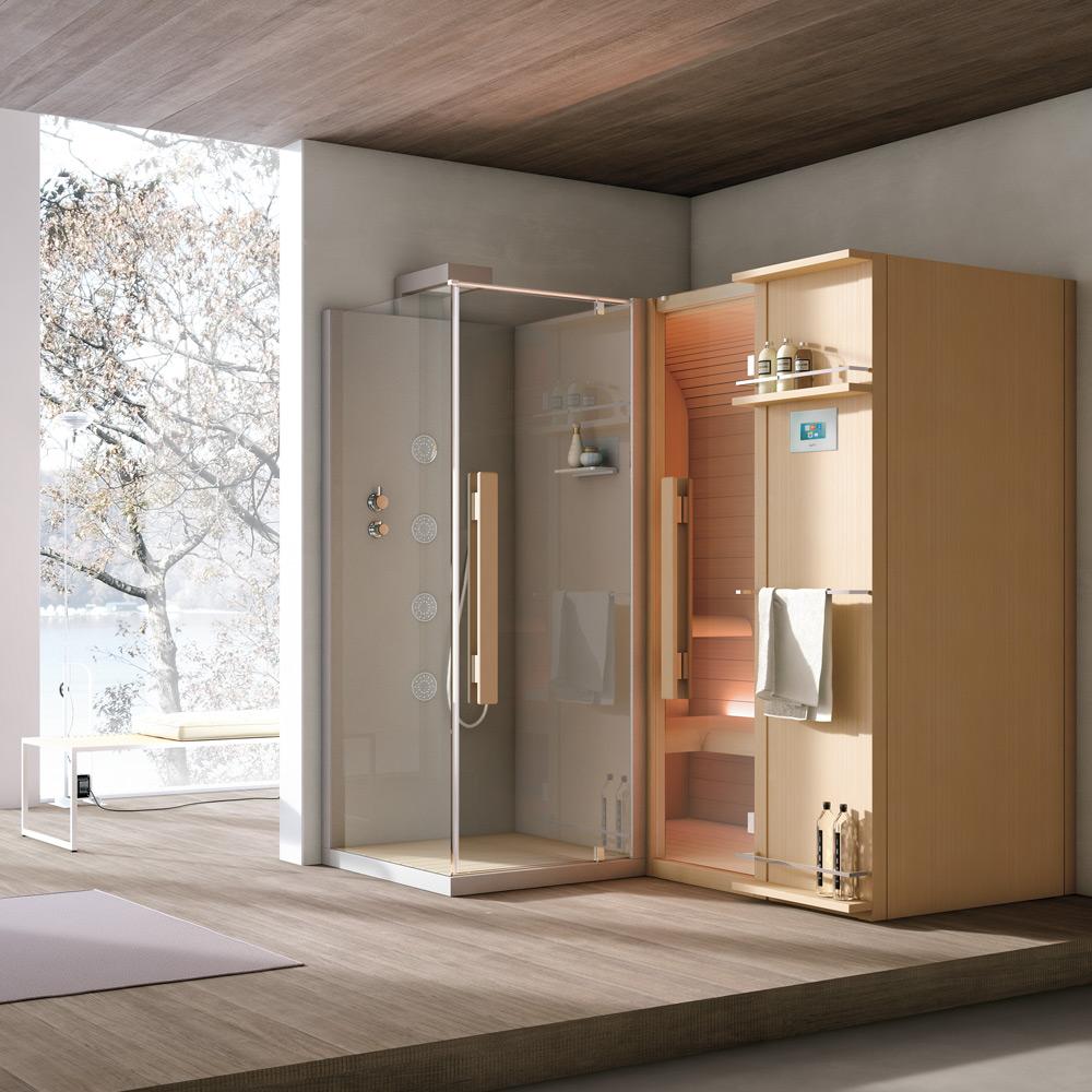 Cabina Doccia E Sauna.Sauna Hammam