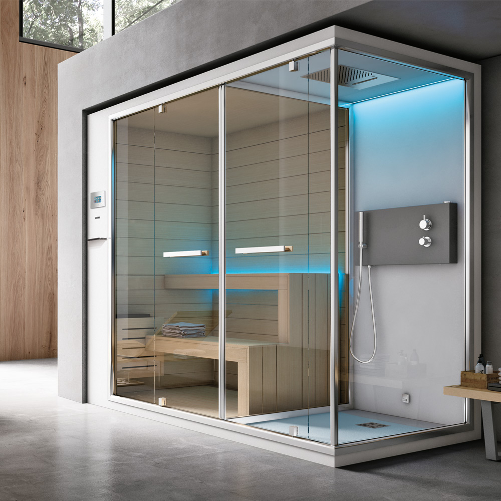 Ethos c hafro geromin - Box doccia con sauna e bagno turco ...