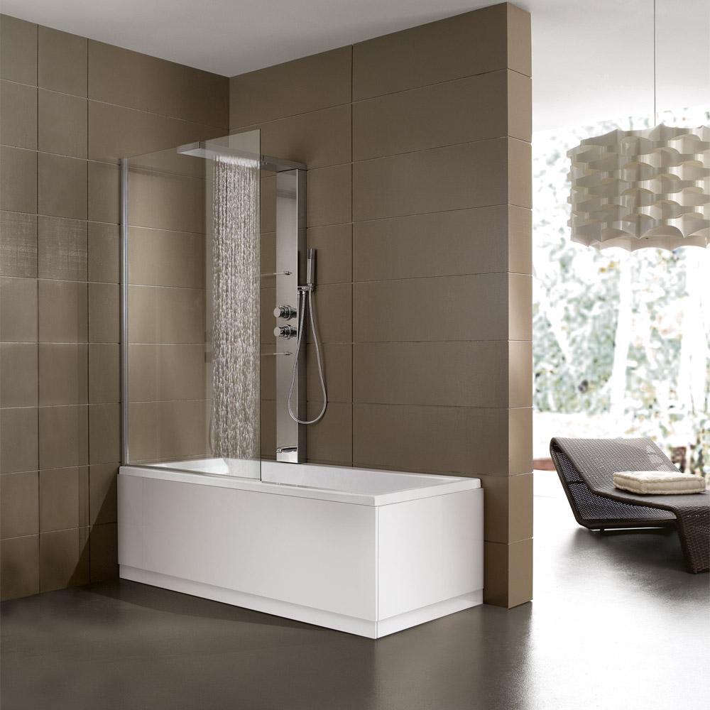 Bagno con doccia e vasca ku75 pineglen - Bagno con doccia ...
