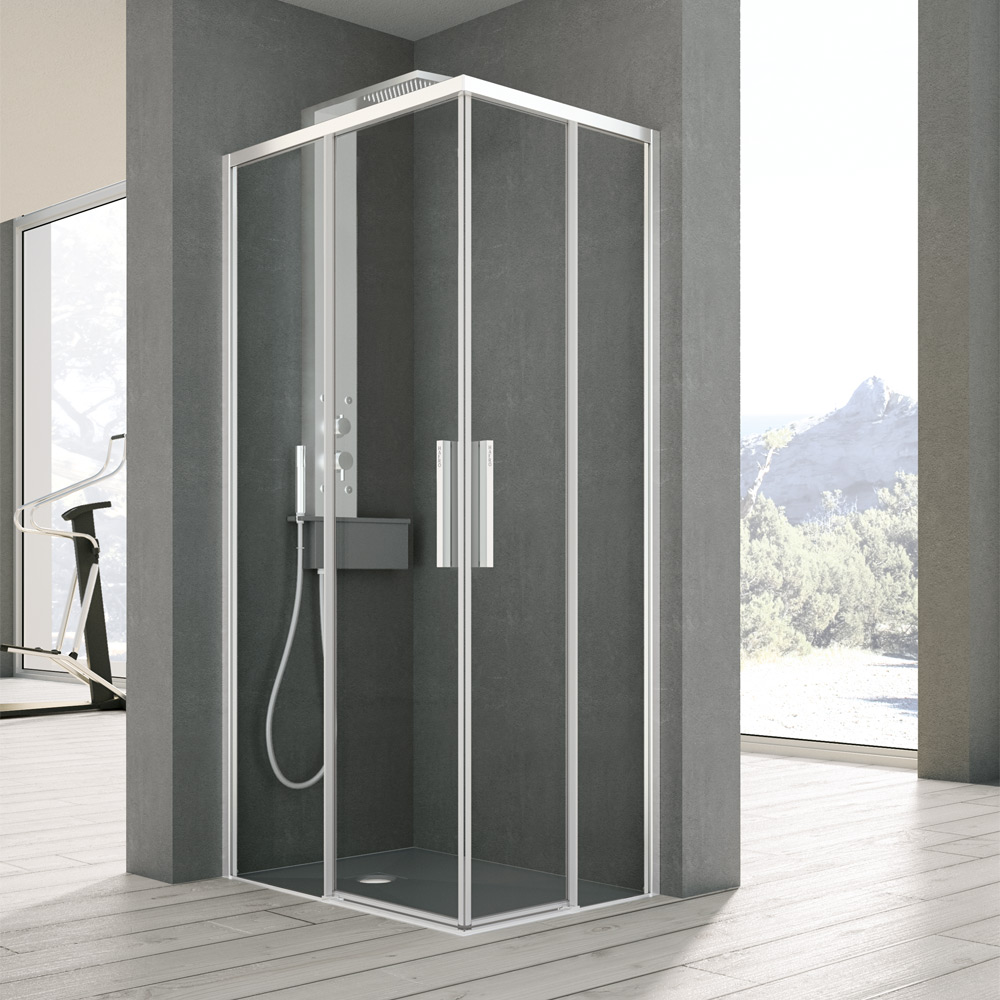 Docce hafro geromin for Layout bagno padronale con cabina doccia
