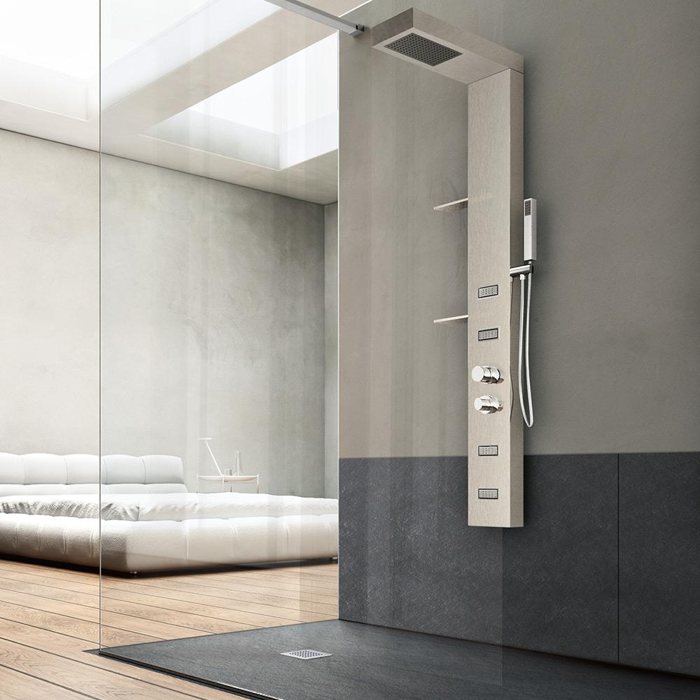 cabina doccia hafro piatti geromin pannelli forma