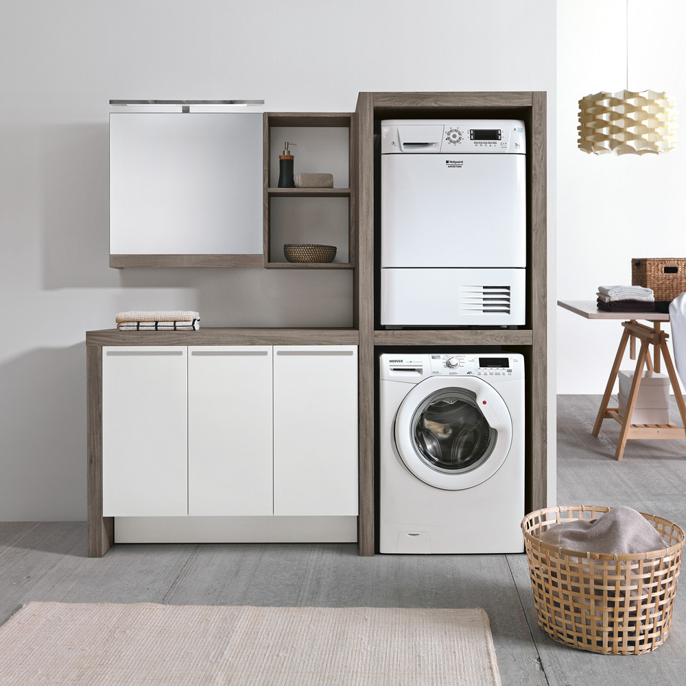 Arredo lavanderie hafro geromin - Mobili per lavanderia casa ...