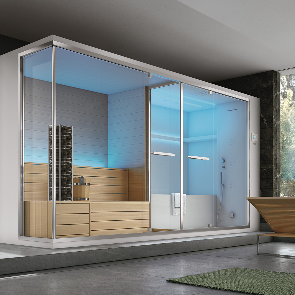 Sauna hammam hafro geromin - Box doccia con sauna e bagno turco ...