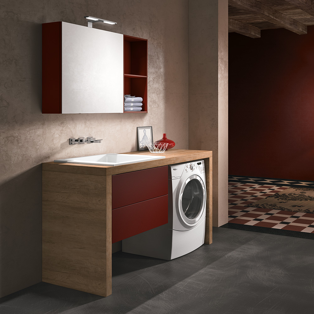 Mobile Lavabo Piu Lavatrice laundry |